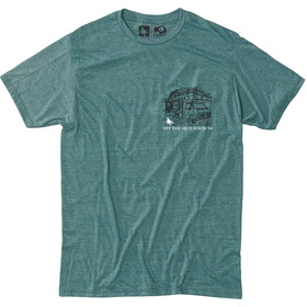 Hippy Tree Roadside T-shirt Homme, heather teal
